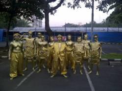MANUSIA PATUNG HUMANOID ,GOLD MAN,SILVER MAN COCOK BUAT SEGALA PESTA PHONE : 021-8406705